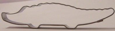 Ausstechform für Plätzchen - Krokodil - Edelstahl - 11 cm lang (Krokodil-ausstecher)