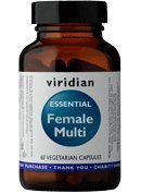Viridian Essential Female Multi - Hibiscus and Cranberry - 60 Vegicaps from Viridian Nutrition