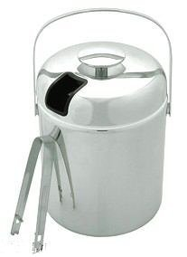NEW CHROME PLATED ICE BUCKET W/ TONGS by overstockedkitchen -