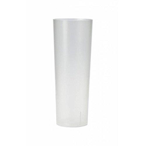 VASO TUBO PLASTICO (PP) 300cc. IRROMPIBLE (500 u./ Bolsa. 10 u. TRASLU