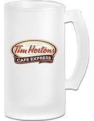 tim-hortons-coffee-brand-frosted-glass-pub-big-beer-mug-tazas-de-desayuno-500ml