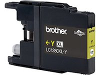 Brother LC-1280XLY Cartouche d'Encre d'Origine Jaune 1200 Pages
