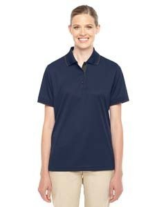 Ladies' Motive Performance Pique Polo with Tipped Collar CL NVY/ CRBN 849 2XL (Performance Pique Polo)