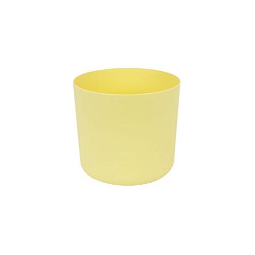 Classique cache-pot en plastique Aruba 13 cm en jaune couleur