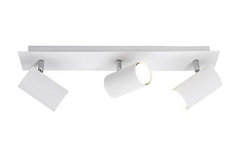 Trio Leuchten Balken in Metall weiß, Spotbalken 3-flammig, exklusiv 3xGU10, Länge: 48 cm 802400301