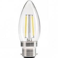 4w = 40w = 470 lumens - Status - Filamento LED - Vela - BC - Transparente - Blanco Cálido - 1 paquete
