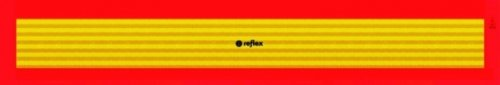 Preisvergleich Produktbild Heckwarntafel für Anhänger und Auflieger, auf Aluplatte, ECE 70.01, 1130 mm x 195 mm