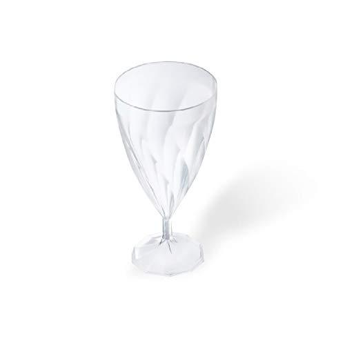 6 verres à eau plastique jetable transparent - Adiserve -