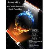 Camera Plus CP-MTL160D (2 Batterien-Pack) - Mini Travel Größe 41 cm Doppelseitige Farb Diffuser Magie Tube Light 160 LED Lichtquelle für Kamera - All-in-One-Lösung für Fotografie und Videografie