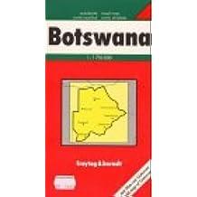 Carte routière : Botswana