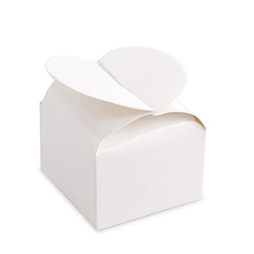 Bulk Buy: Darice DIY Crafts Favor Box Herz Top Perle Weiß 12Stück (6er Pack) 1404-16