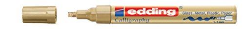 edding Glanzlack-Marker Kallografie 755 creative, 1-4 mm, gold