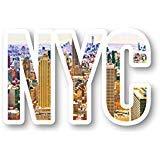 NYC Skyline Aufkleber New York - Laptop-Sticker - 2,5 Zoll Vinyl-Aufkleber - Laptop, Handy, Tablet Vinyl-Aufkleber S1119