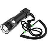 Securitying®® - torcia subacquea professionale, 700 lumen, 5 modalità di illuminazione, impermeabile subacquea (batteria non inclusa)