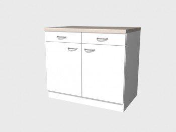 Küchen Unterschrank 100 cm weiss - Witus