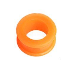 Gekko Body Jewellery Arancione Double Flared Flessibile Ear Flesh Tunnel/Plug-12mm (1/2