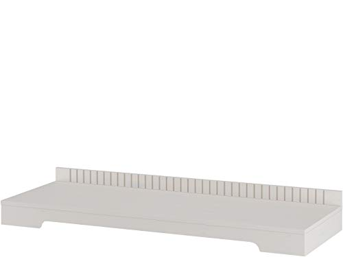 Carol TV Bank Board Lowboard Fernsehtisch Fernsehsockel Sockel 125 cm Kiefer massiv Landhaus (weiß) - Kiefer-plasma-tv