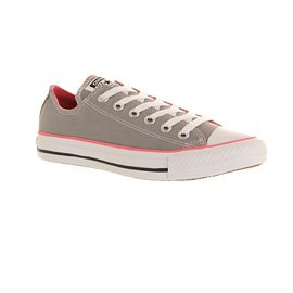 Converse All Star Ox Uomo Sneaker Grigio Grey Pink Canvas