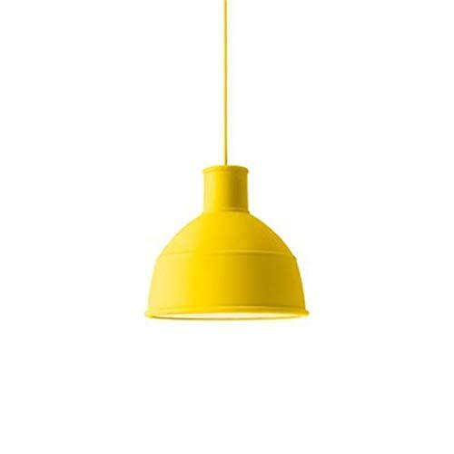Nouveau Hängen (Le nouveau lustre moderne de plafond de LED s'allume pour la chambre à coucher de salon allumant D33 × H29.5cm (sans ampoule), jaune)