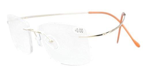Eyekepper Titanium Rimless Eyeglasses Men Gold