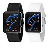 Amyove Women Mens Futuristic Style Multicolor LED Summer Sport Silicone Wrist Watch New - Best Reviews Guide
