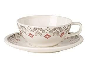 Villeroy & Boch Artesano Montagne Tasse à thé avec Assiette, 2 pièces, Premium Porcelaine, Multicolore