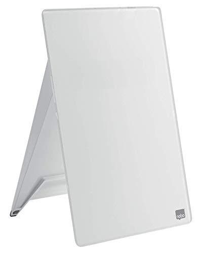 Nobo 1905173 Chevalet pour Bureau, Verre Trempé, Pour Usage Fréquent, 216 x 297 x 30 mm, Blanc