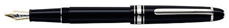 Authentic Mont Blanc Pen, 18K Gold nib, Black precious resin barrel and cap, Platinum trims, Mont Blanc Gift Box