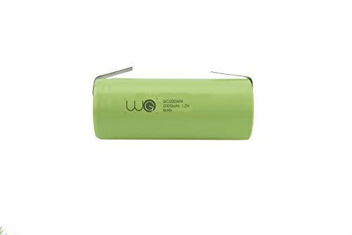 Ersatz Akku WorldGen 2000mAh 1.2V 42x17mm für elektrische zahnbürste Braun Oral B type 3728 (D18.500, D19.500) Professional Care 7400, 7550, 7850, 8000, 8300, 8500, 8850, 8900