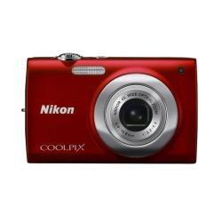 Nikon Coolpix S2500-Digital Kompaktkamera, 12MP (2,7Zoll, 4x optischer Zoom)-Rot