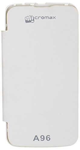 iCandy™ Synthetic Leather Flip Cover For Micromax Canvas Power A96 - WHITE  available at amazon for Rs.180