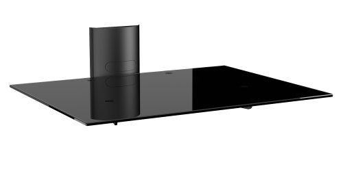 Meliconi STILE AV Support Plus - Supporto per Dispositivi Audio Video in Vetro Temperato (300x380mm)