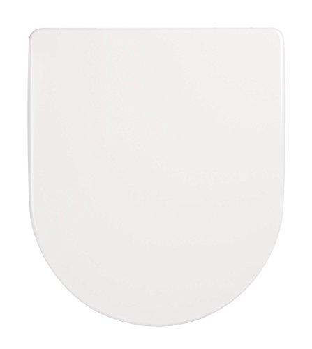 WC-Sitz Deluxe weiß | Toilettensitz | WC-Brille aus Duroplast-Kunststoff | Soft-Close-Absenkautomatik | Edelstahl-Scharnier | Top-Fix | Take-Off | Klodeckel | Toiletten-Deckel