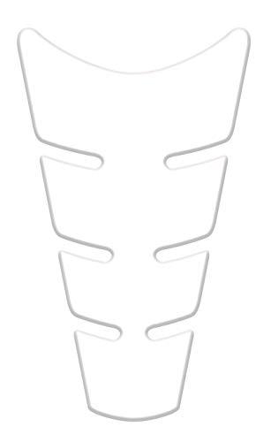 Protection Réservoir Adhésive 3D pour Motos Superbike, Transparent, 22 x 12,5 cm