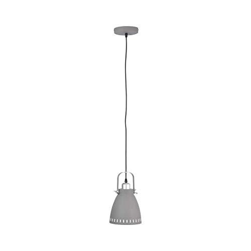 Lámpara de techo para comedor, color gris, lámpara de techo industrial para comedor (diseño industrial, lámpara colgante, lámpara de cocina, 17 cm, altura 120 cm)
