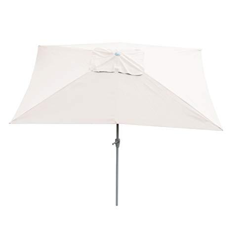 Mendler Parasol en Aluminium N23, 2x3m, rectangulaire, inclinable, Inoxydable ~ crème