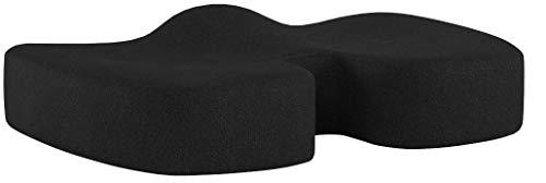 bonmedico Orthopädisches Sitzkissen mit Gel-Schicht, Memory Foam Stuhlkissen zur Steißbein-Entlastung, Druckentlastend z.B. bei Dekubitus, Für Auto, Büro & Rollstuhl, Large