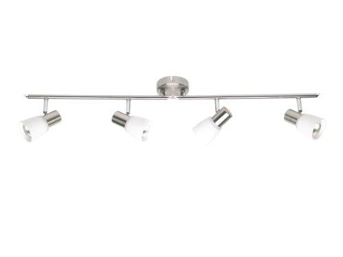 Brilliant Luca Spotrohr, 4-flammig, drehbar, 4x E14 maximal 40W, Metall/Glas, eisen/chrom 35832/77