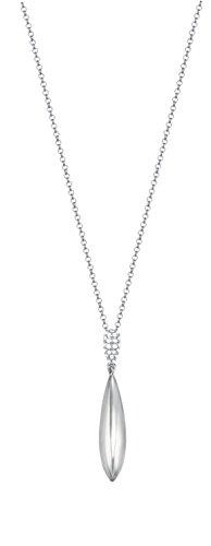 Esprit Damen-Kette mit Anhänger Grand Style 925 Silber rhodiniert Zirkonia weiß Rundschliff 42 cm - ESNL93365A420