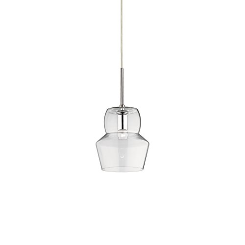 L'Aquila Design Arredamenti Ideal Lux Lampe Zeno Transparent Suspension strutturametallo Salle SP1 Small