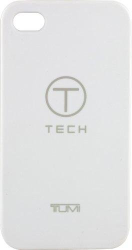 Tumi T-Tech by 00976 Rubberized Snap On Case for iPhone 4/4S- 1 Pack - Retail Packaging - White