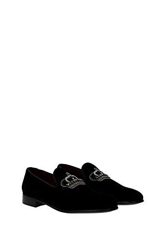 A50001AR20780999 Dolce&Gabbana Pantoufle Homme Velours Noir Noir