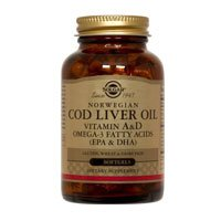 Solgar Norwegian Cod Liver Oil Softgels (Vitamin A & D Supplement)