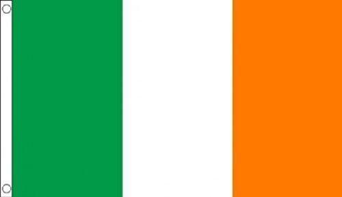 Grande ! 8 x 5 cm (240 x 150 cm) irlandais Cyan/magenta/jaune St Patricks Day - 100% Polyester-matière Drapeau Banniere idéale pour Festival bar Club l'activité Décoration de Fête
