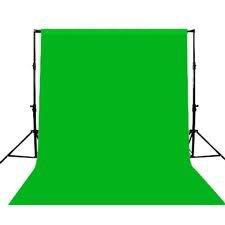 Maxsima Musselin Hintergrund / Kulisse aus 100%-iger Baumwolle für Filmstudios (3 x 6 m), Grün (Ohne Ständer / Rahmen)