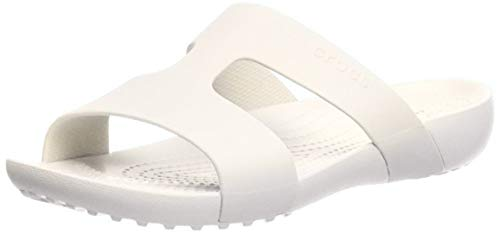 Crocs Women's Serena Slide W Heels Sandals, White Oyster 12u, 9 UK 42/43 EU
