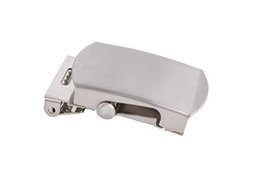 shenky - Hebilla para cinturones de tela - Para cinturones de 4 cm de ancho - Plateado