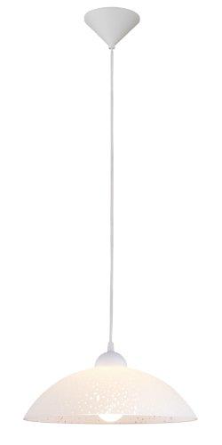Eglo 82783 Suspension, verre, E27, Blanc