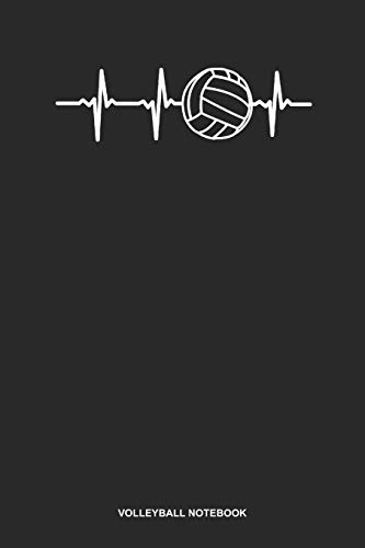 Volleyball Notebook: Dotted Log Book For Coach, Setter, Hitte Or Libero: Game Day Volleyball Journal | Heartbeat Ecg Gift
