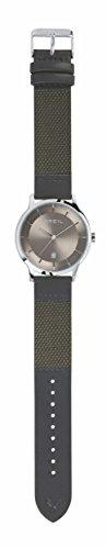 Reloj Breil Hombre twenty20Esfera mono-colore gris movimiento solo tiempo–3H cuarzo y correa piel de becerro gris tw1741